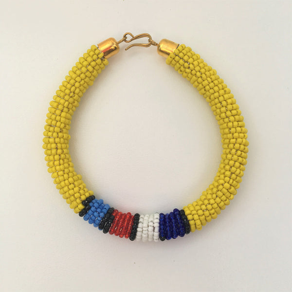 Maasai Beaded Clip Bangle