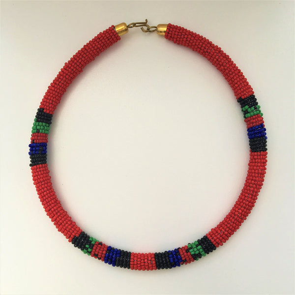 Maasai Beaded Rope Choker