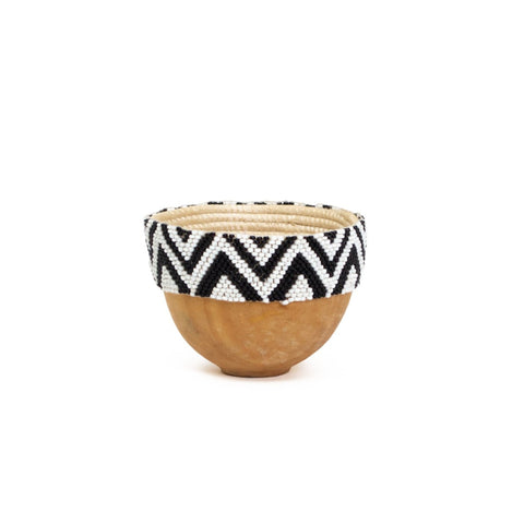 Isaro Beaded Wooden Bowl