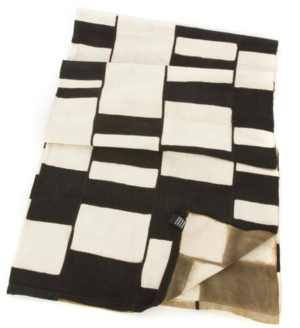 Modern Black & White Mud Cloth Throw