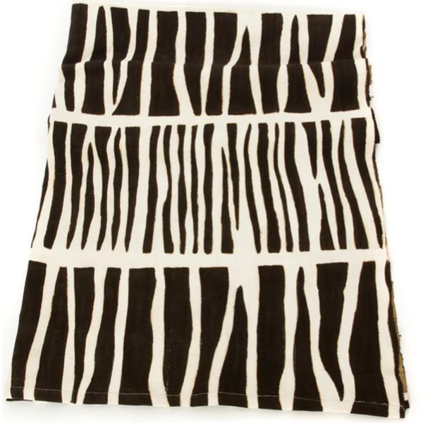 Modern Zebresse Mud Cloth Throw