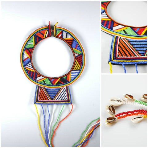 Naliaka Maasai Wedding Necklace-Multi - Ikumba Design Studios - 1