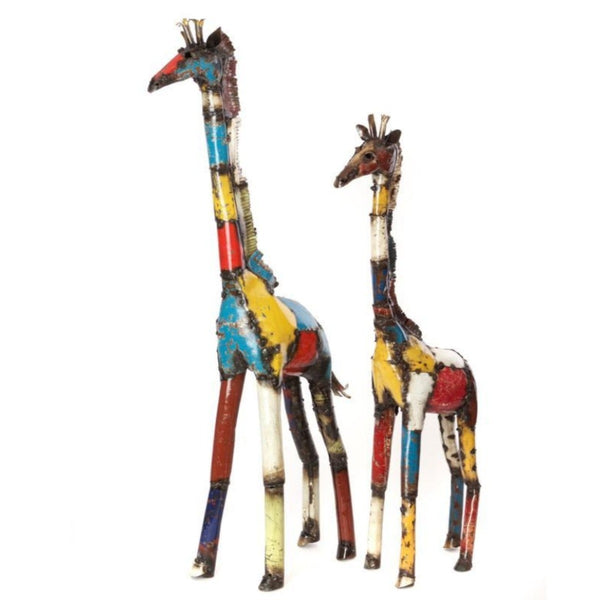 Recycled Oil Drum Giraffe Sculpture