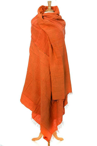 Orange Ethiopian Gabi | Body Shawl
