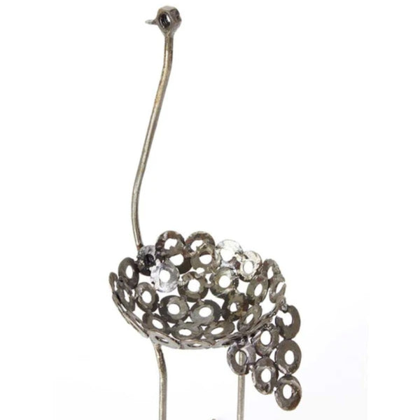 Petite Recycled Metal Ostrich Planters