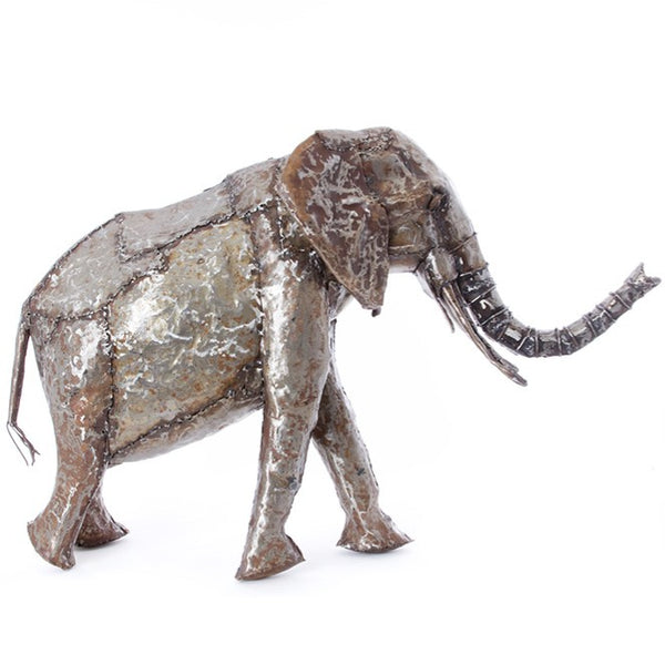 Recycled Oil Drum Elephant Sculptures