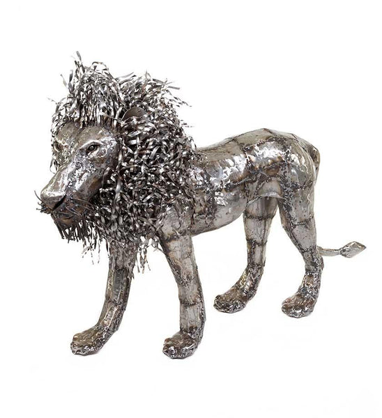 Recycled Metal Lion Sculpture