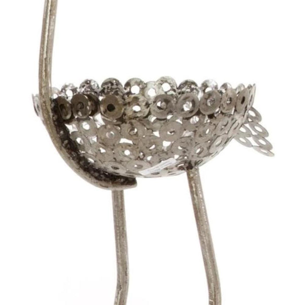 Recycled Metal Ostrich Planter II