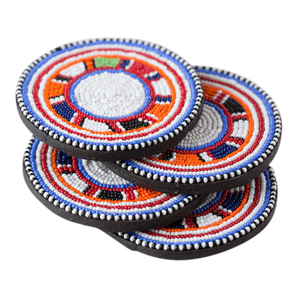 Maasai Beaded Coasters - Ikumba Design Studios - 1