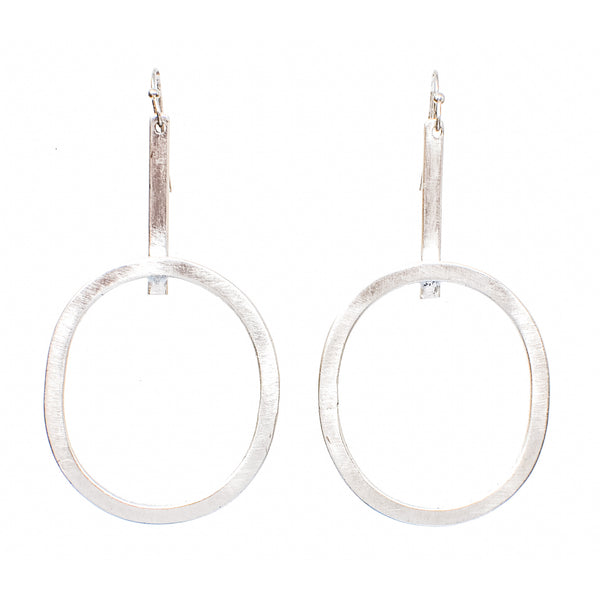 Dayo Elongated Hoop Earrings