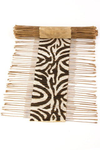 Zebra Print Twig & Mud Cloth Table Runner