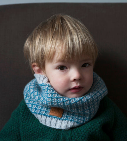 Cowl, Turquoise & Cloud