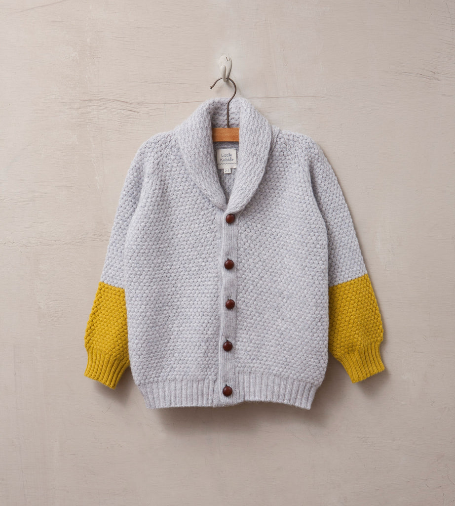 Bramble Cardigan, Cloud - Little Knittle