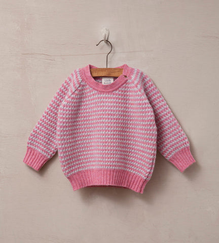 Raglan Sleeved Baby Jumper, Cloud and Rose