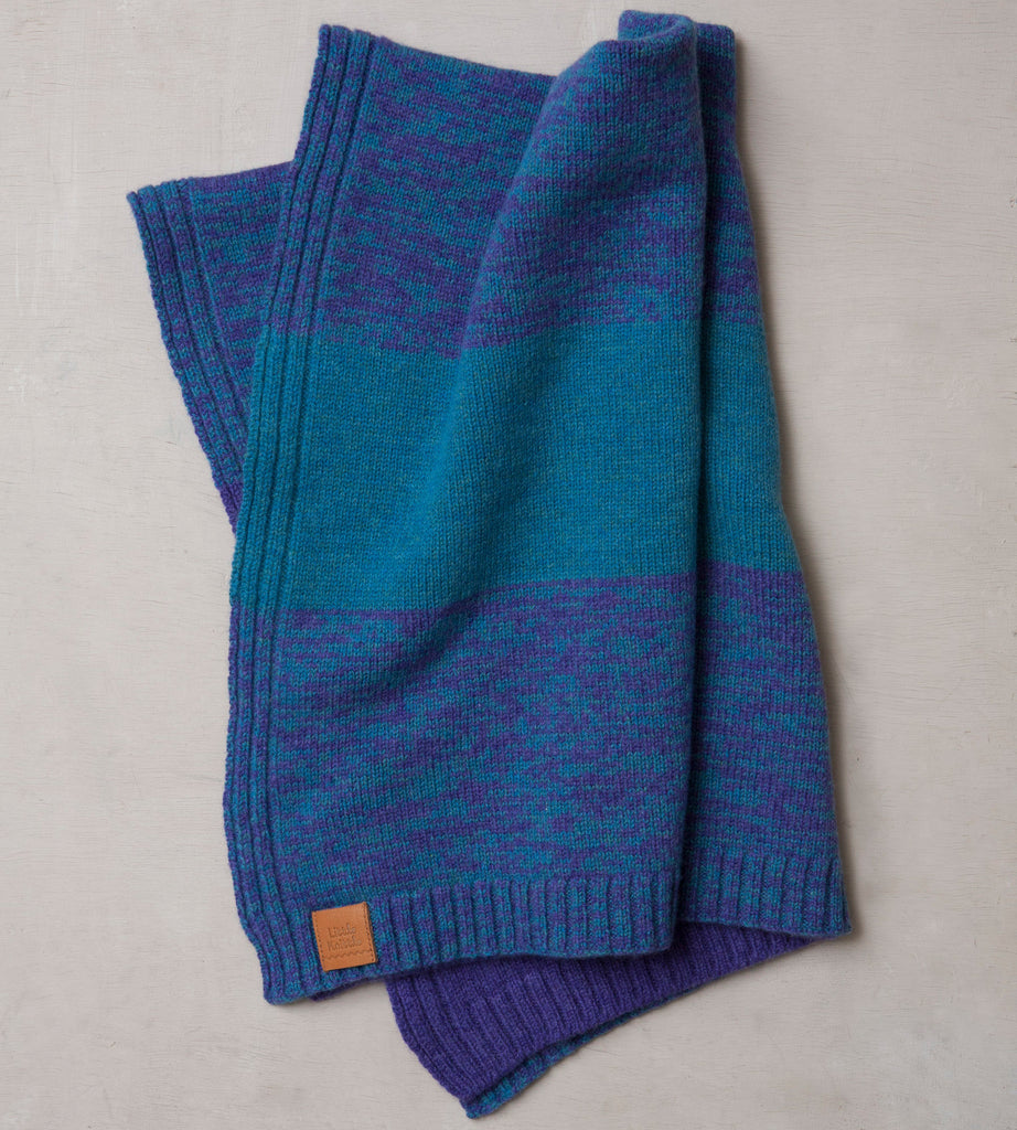 Stargazey Blanket, Heliotrope and Turquoise - Little Knittle