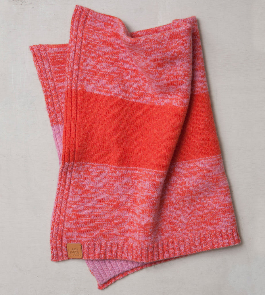 Stargazey Blanket, Rose and Orange - Little Knittle