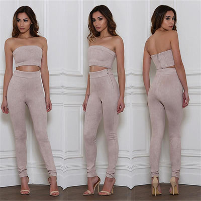Blake Two-Piece Suede Set