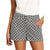 Whirl Diamond Print Shorts