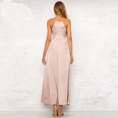 Belle Satin Maxi Dress