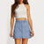 Bonfire Button-Down Denim Skirt
