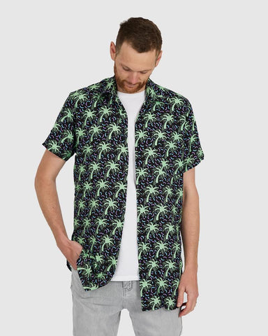 Tropical Palm Button Down Shirt