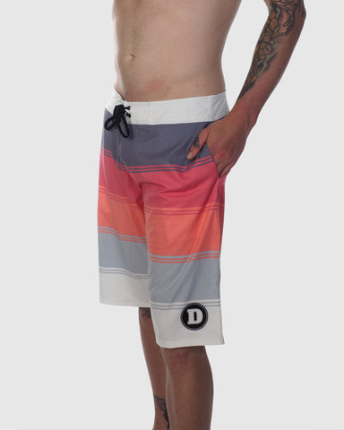 Han Board Shorts - Watermelon Stripe