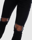 JJ Stretch Jeans - Distressed Black