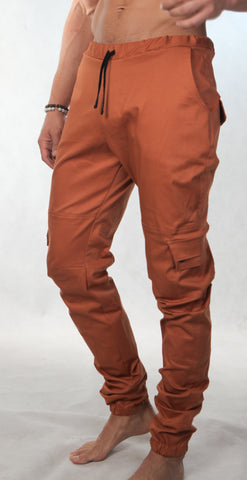 Streety Cargo Cuffs - Burnt Orange