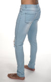 JJ Stretch Jeans - Distressed Light Blue