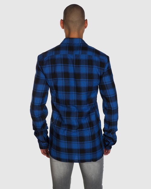 Check Shirt- Blue/Black Check