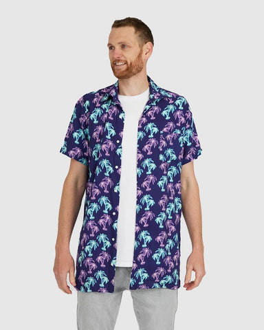 Neon Palm Button Down Shirt