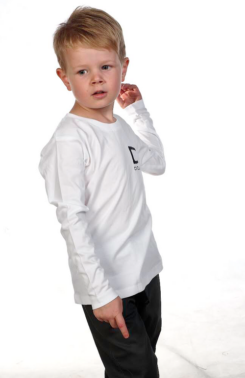 Kids Long Sleeve Tee - White