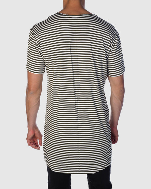Luxe Stripe Tee - Olive