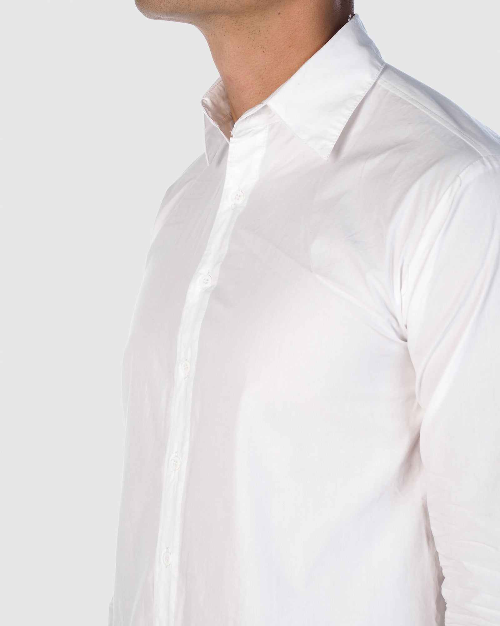 Button Down - Long Sleeve Shirt - White