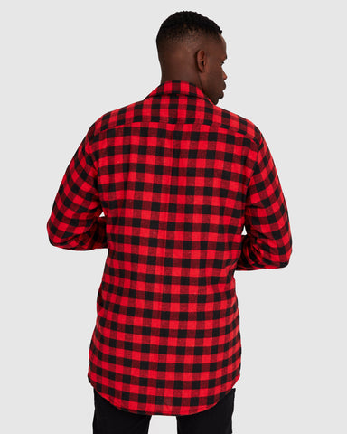 Aussie Flanny - Red/Black Check