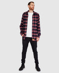 Aussie Flanny - Navy/Red Check