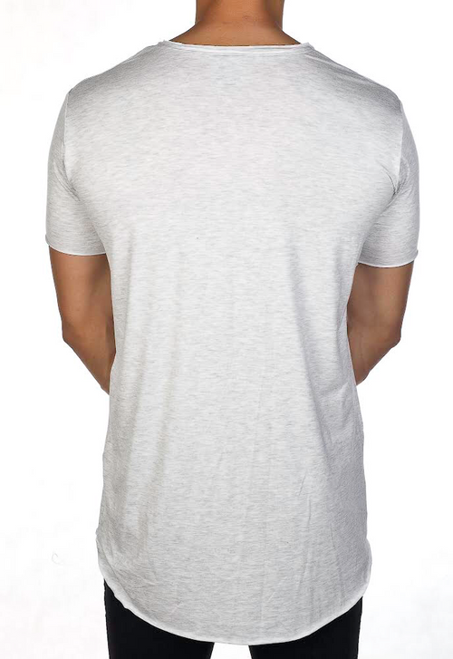 Raw Tee - White Marle