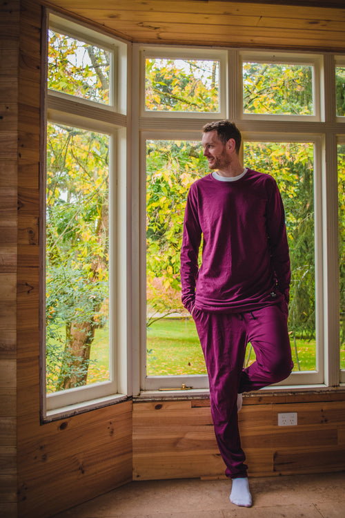 Loungewear - Long Sleeve - Maroon