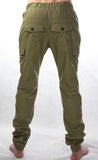 Streety Cargo Cuffs - Army Green