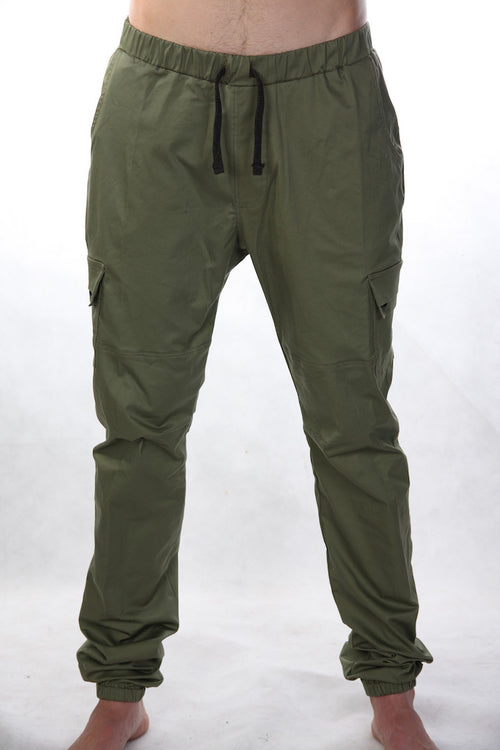 Streety Cargo Cuffs - Dark Green