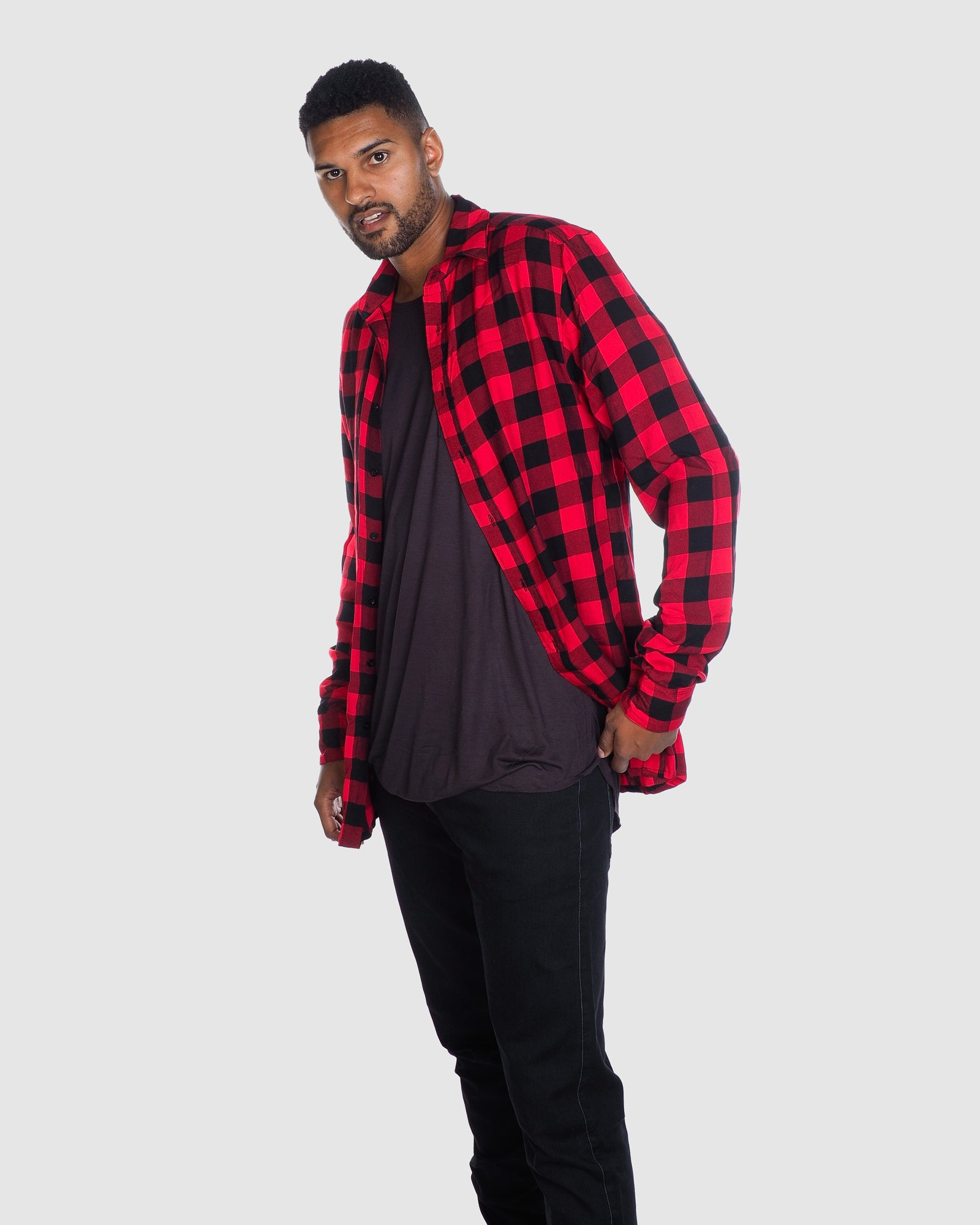 Check Shirt- Red/Black Check