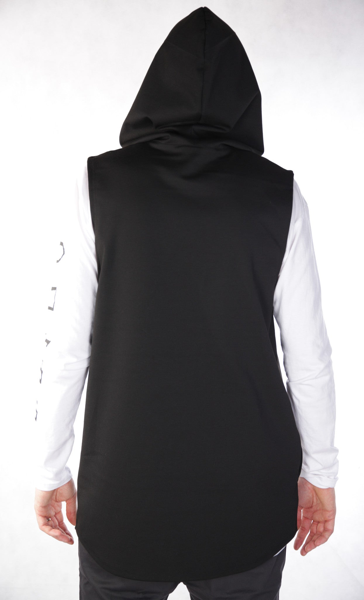 Riley Sleeveless Hoodie - Black