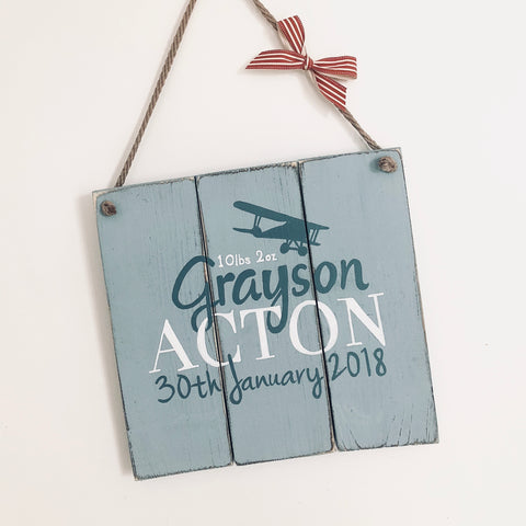 Baby Name Hanging Sign Small