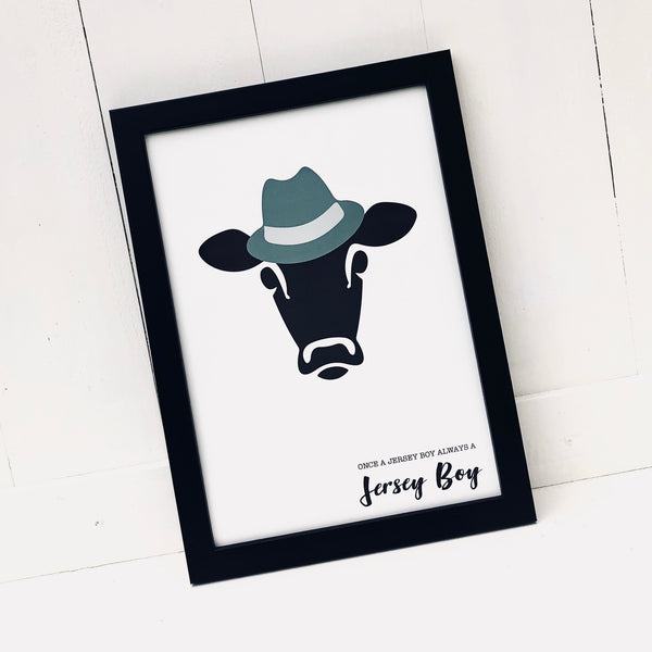 Once a Jersey Boy Cow Print
