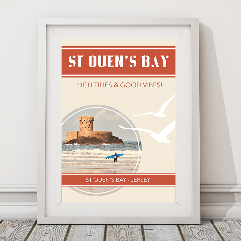 High Tides and Good Vibes Print