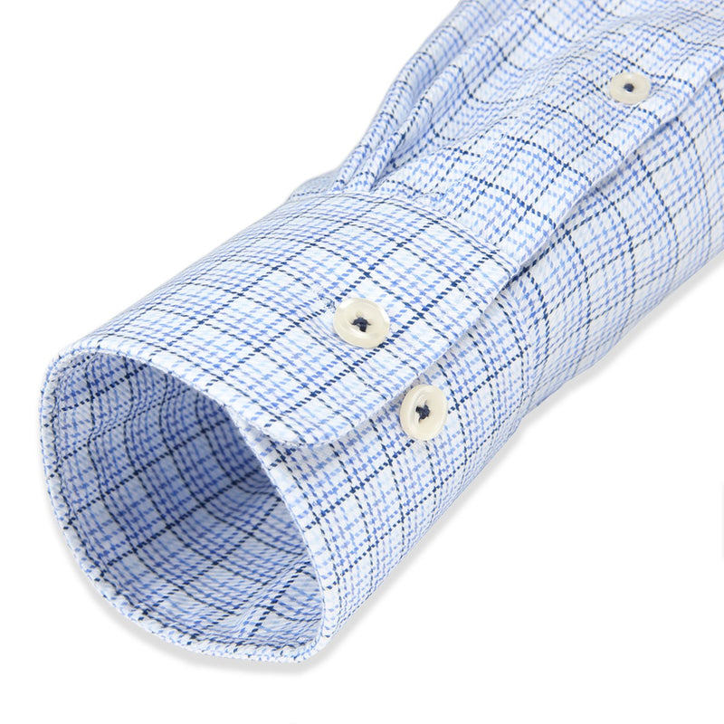 Non-Iron Quad Blue Windowpane