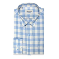 untuck(able) Blue Melange Gingham