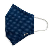 Menswear Mask - Navy Polka Dot