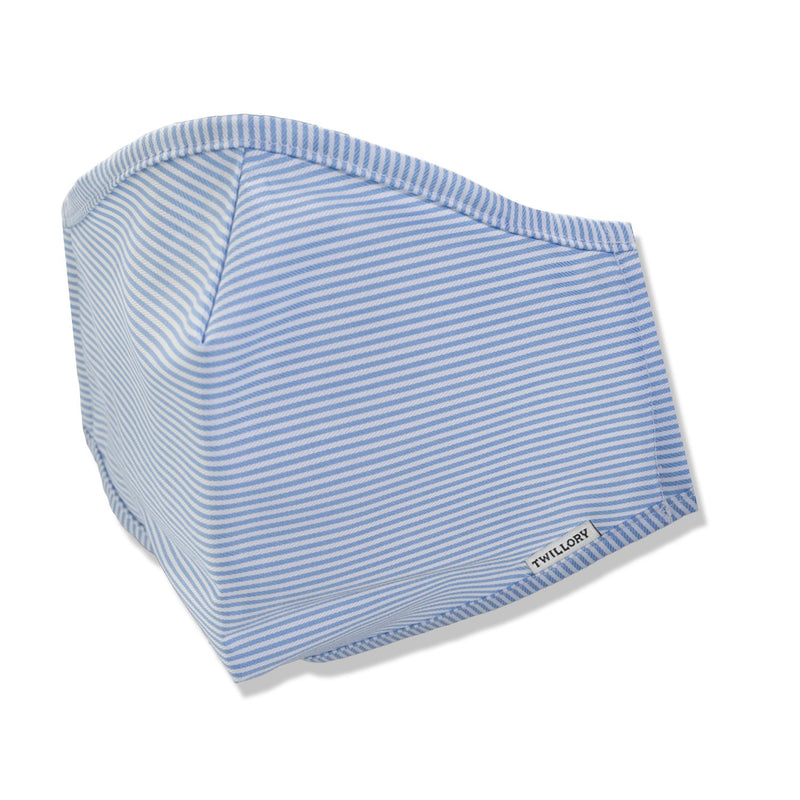 Menswear Mask - Blue Pinstripe