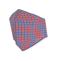 Menswear Mask - Orange / Blue Check
